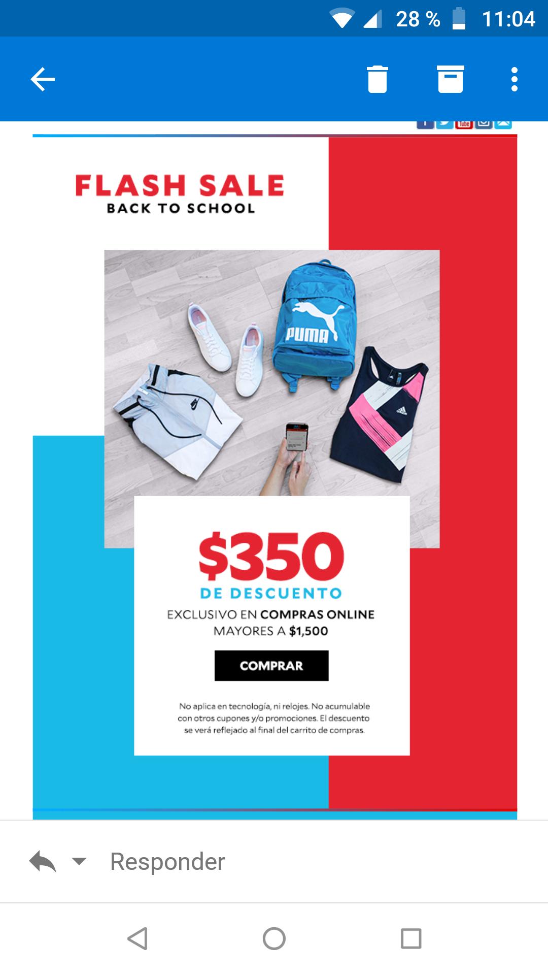 Innovasport: descuento de $350 en compras de $1500