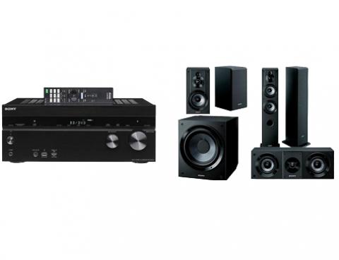 Audimundo: Paquete teatro en casa Sony STRDN1050 A/V 7.2 CH WI-FI Bluetooth 4K, air play