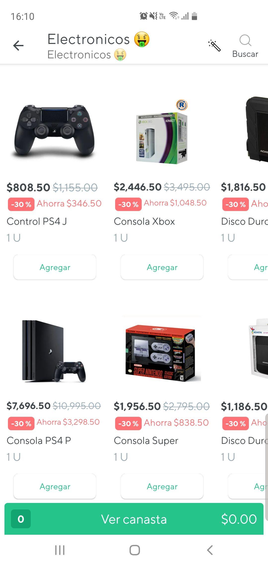 Rappi: Variedad en electronica Chedraui 30%