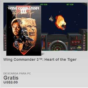 Origin: juego Wing Commander III para PC gratis