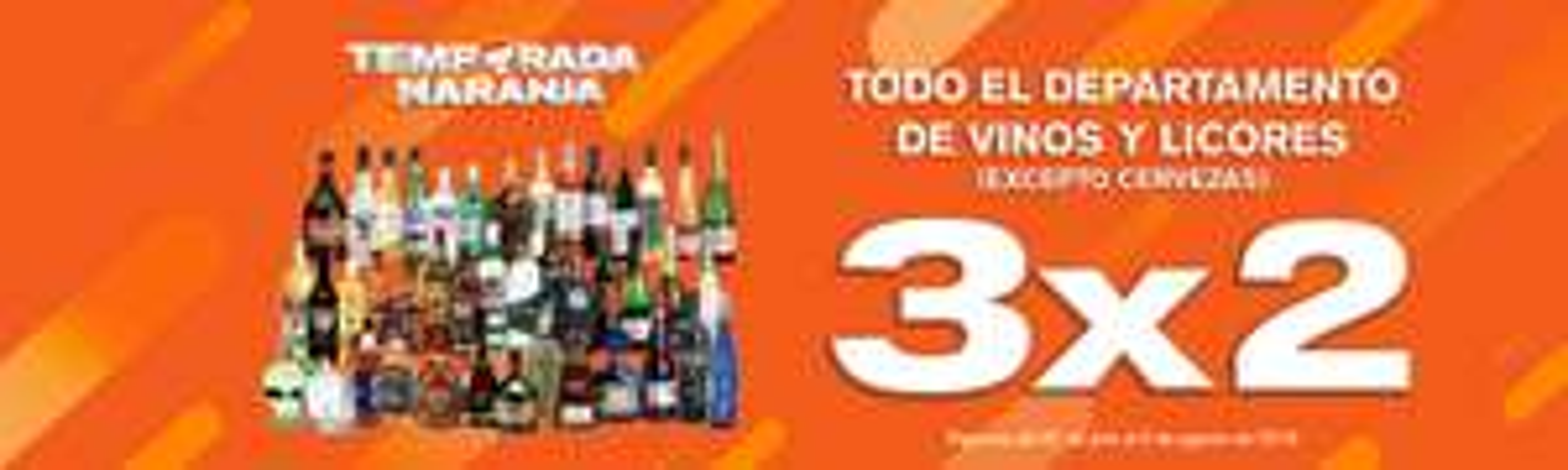 Temporada Naranja 2019 en La Comer y Fresko: 3x2 en Vinos y Licores