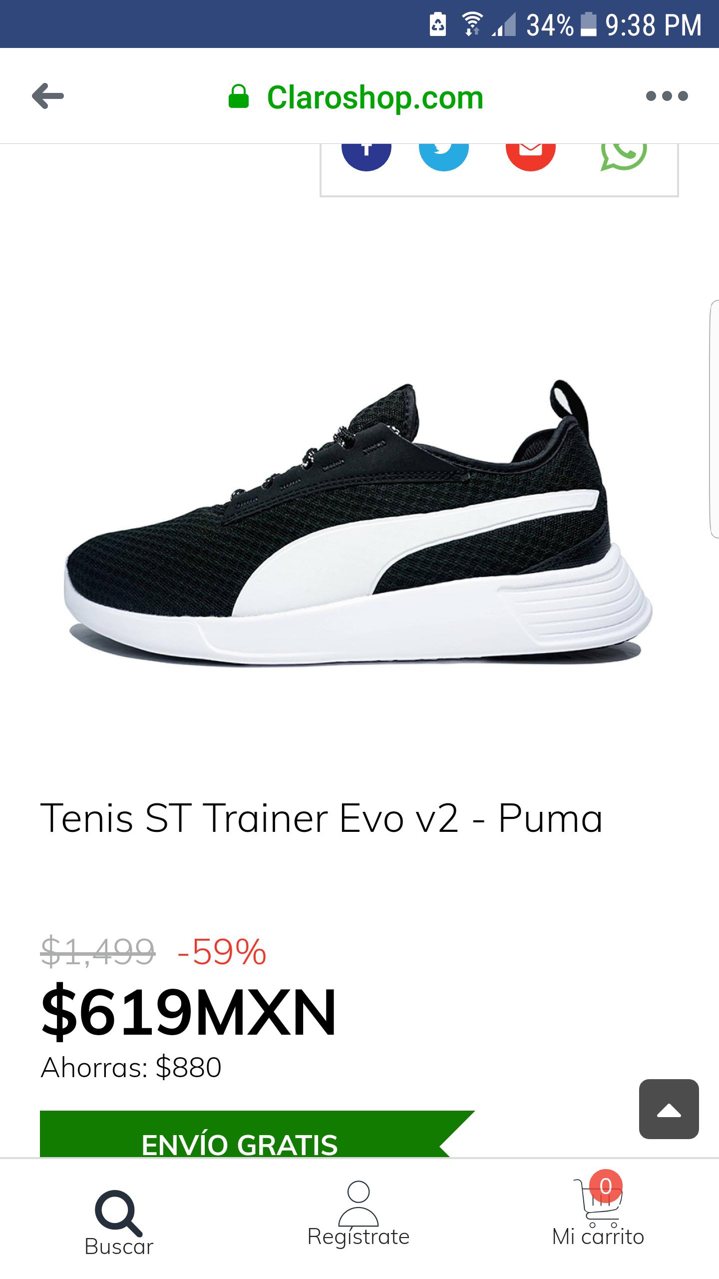Claro Shop: Tenis puma con envio gratis