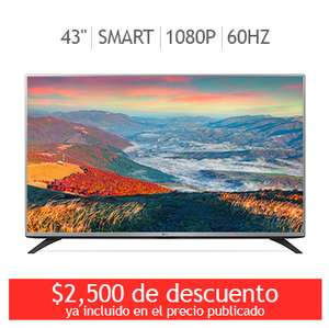 "Costco Online (Solo Hoy) / TVLG LED 43"" Smart TV $6749 con cupón."
