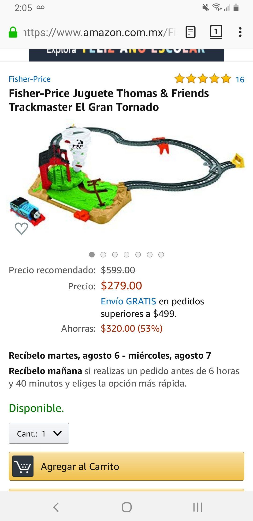 Amazon: El gran tornado. Thomas and friends.