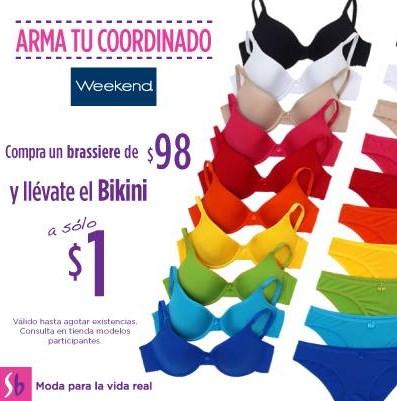 Suburbia: bikini Weekend a $1 en la compra del brassiere y artículo de la semana