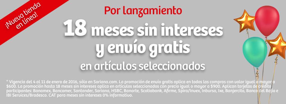 Nueva tienda online Soriana: envío gratis a partir de $600 y 18 MSI en artículos de $900