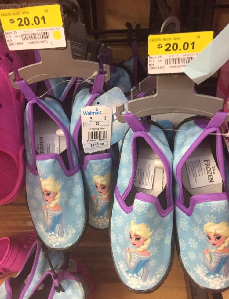 Walmart:tenis de buzo para niña de frozen 20.01