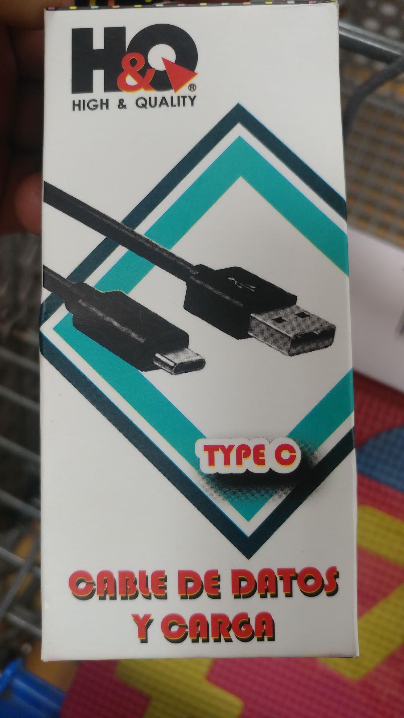 Walmart: Cable tipo c