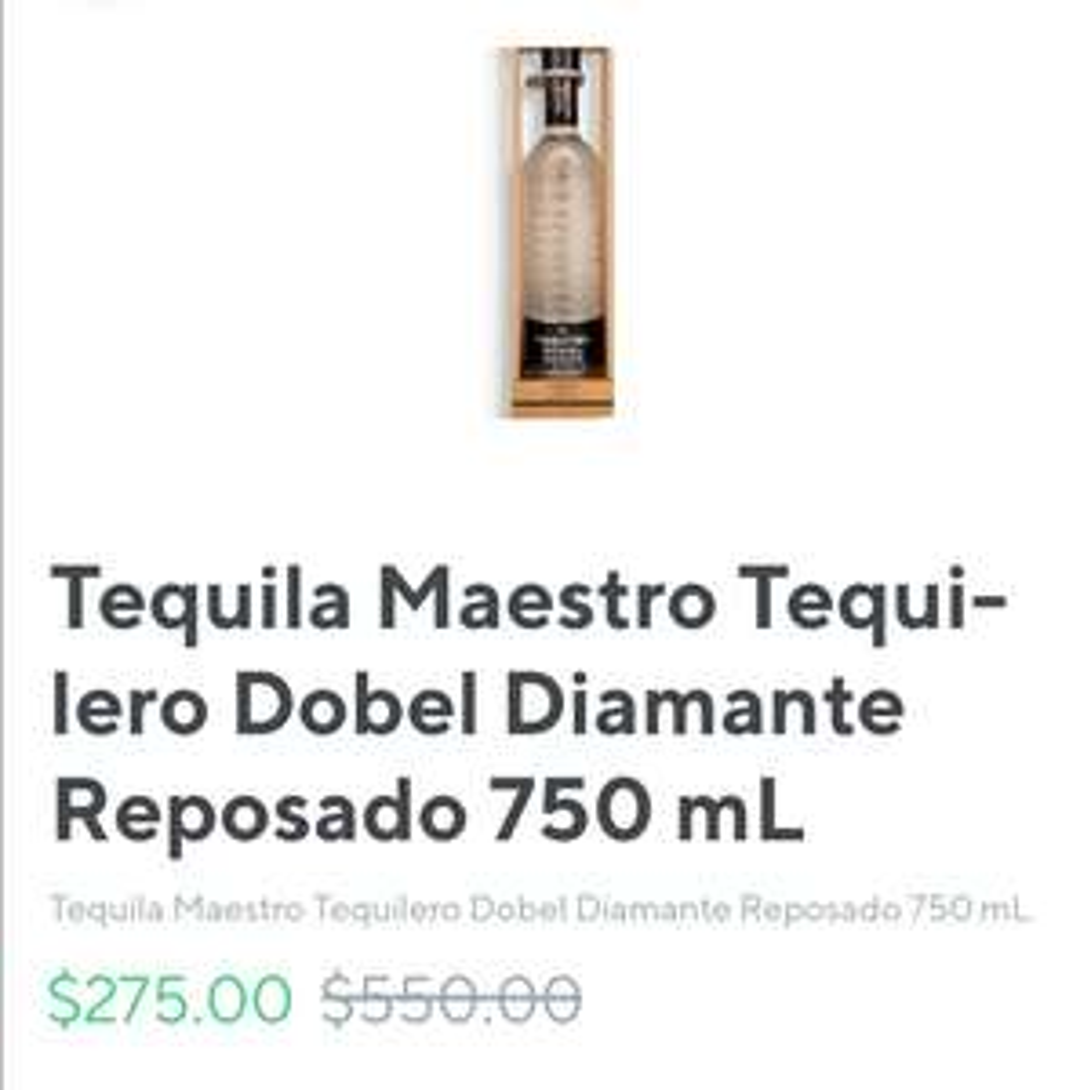Rappi: Maestro Dobel 750ml