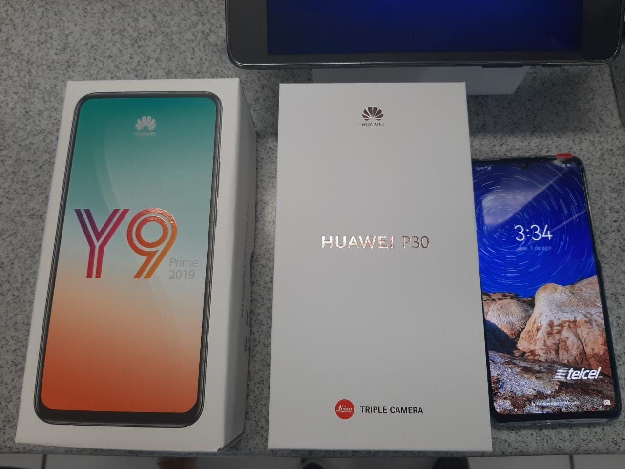 Telcel: Compra Huawei p30 telcel, gratis y9 Prime valor de $6500 aprox