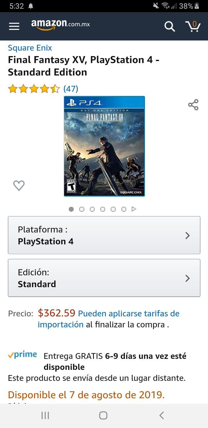 Amazon: FINAL FANTASY XV SE AMAZON PS4 | 362