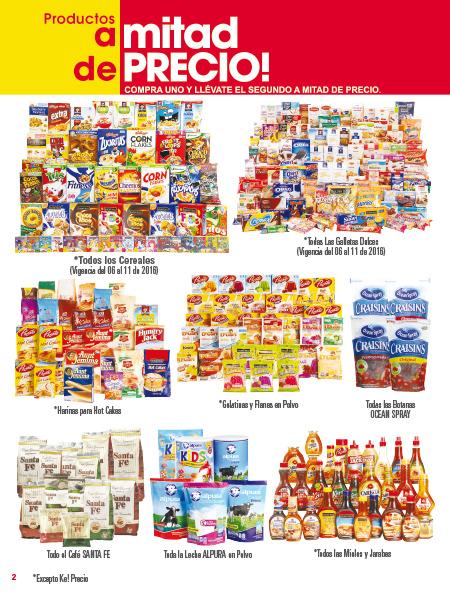 Folleto de ofertas en La Comer: incluye 2x1 y medio en cereales, arroz y en muchos productos más