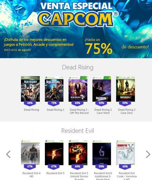 Xbox Live: hasta 75% en juegos de Capcom (Street Fighter, Mega Man, Dead Rising y más)