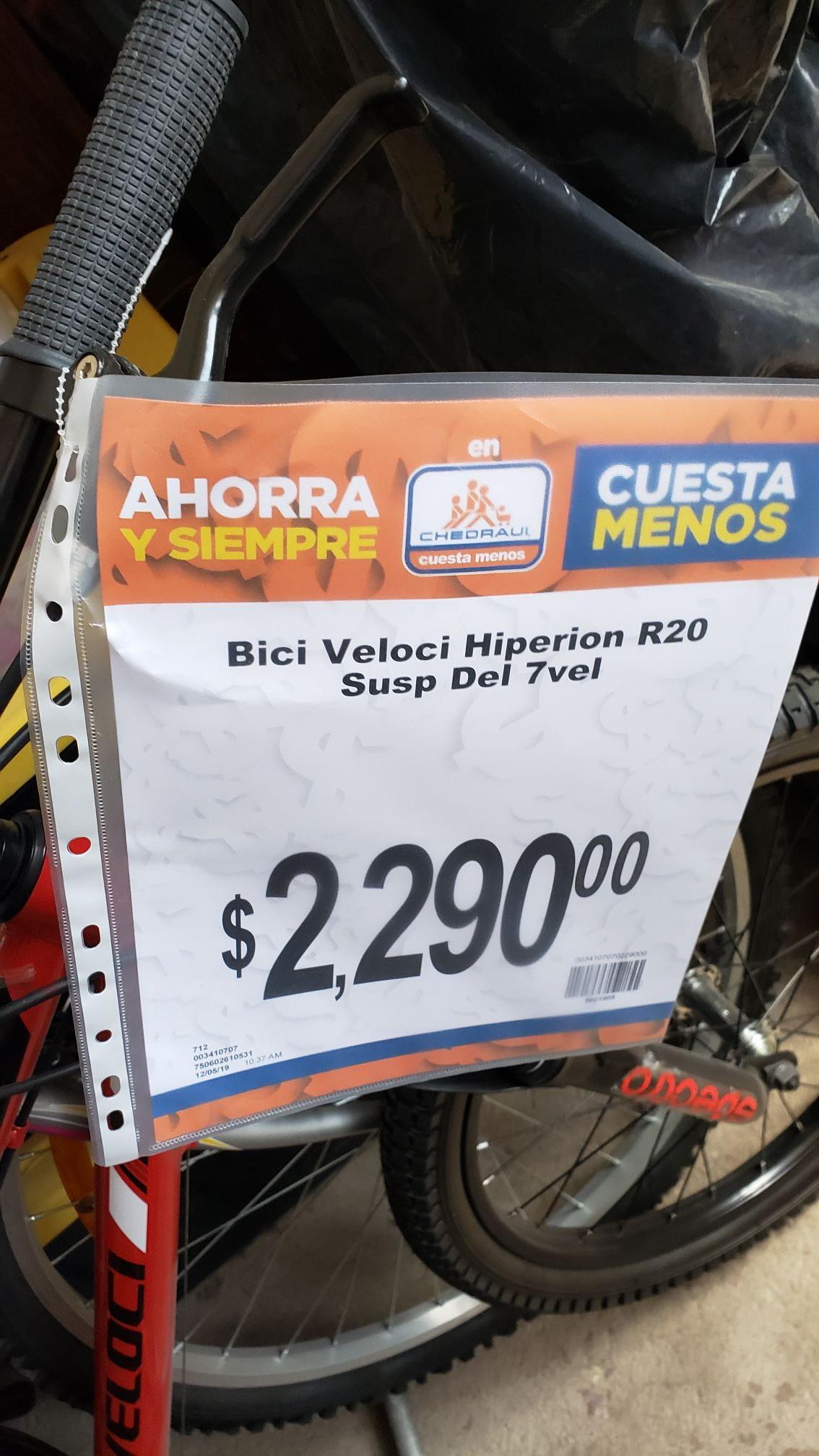 Chedraui: Bici R20 Susp Del 7 Vel