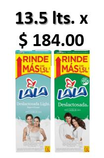 Walmart Súper : Leche Lala 13.5 lts. x $184.00