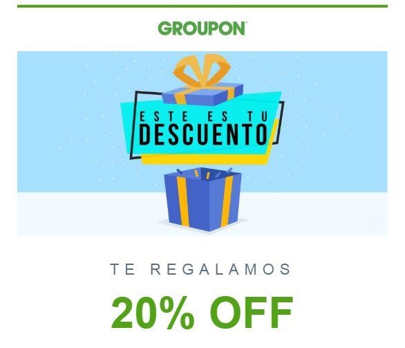 Groupon: Código de Descuento del 20% al 03 de Agosto del 2019