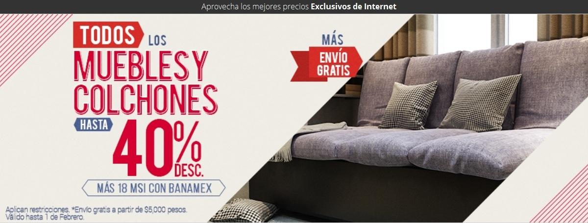 Famsa: Hasta 40% de descuento + 18 msi con banamex en muebles y colchones