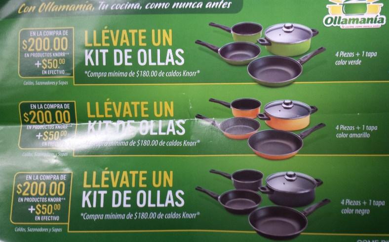 Ollas gratis comprando productos Knorr