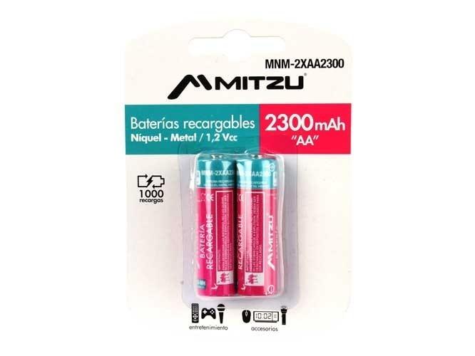 Bodega Aurrera: Baterias recargables Mitzu 2300mAh y cargador de pared