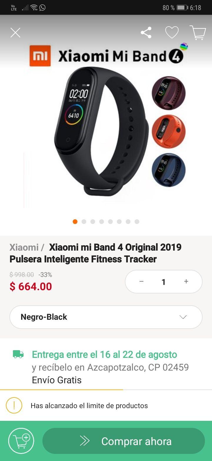 Linio: Xiaomi Mi Band 4 (envío gratis)
