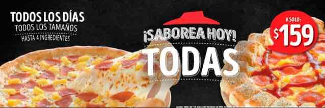 Pizza Hut: todas a $159