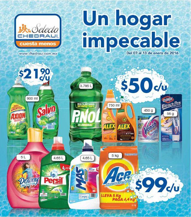Folleto de ofertas chedraui del 7 al 13 de enero: descuentos en productos de limpieza y más