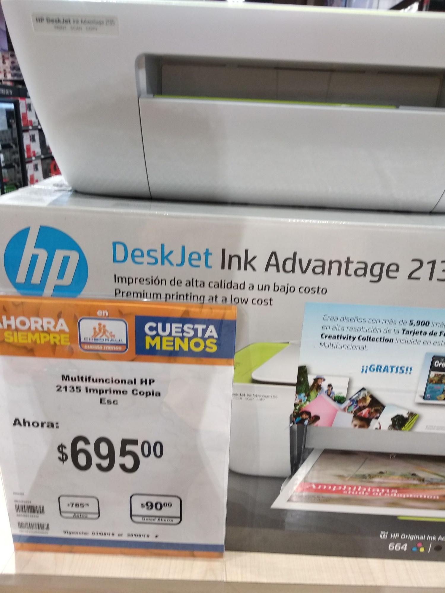 Chderaui: Impresora HP DeskJet Ink Advantange 213