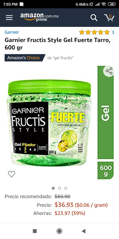 Amazon: Gel Garnier Fructis