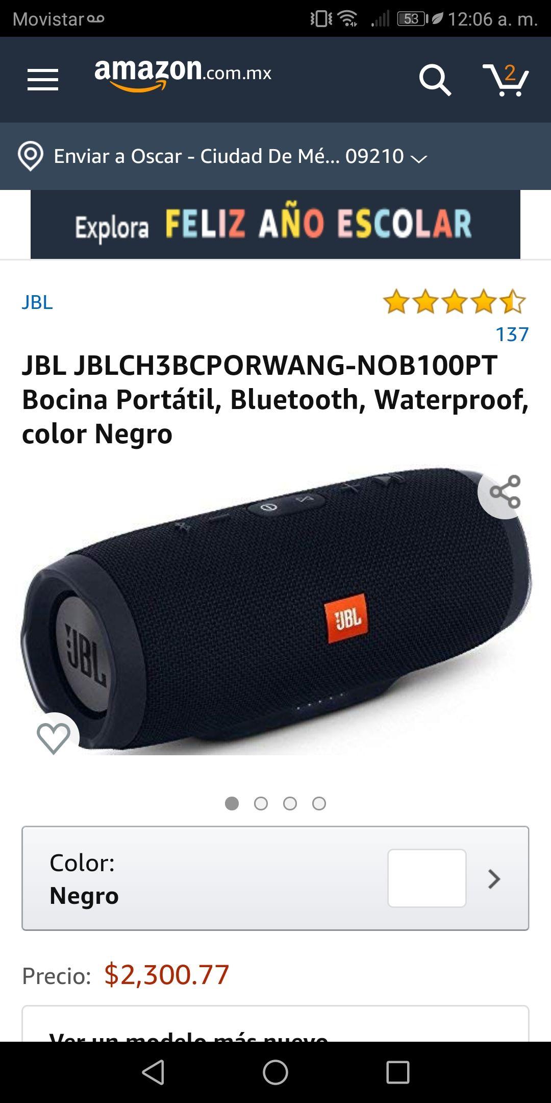 Amazon: Jbl charge 3 black