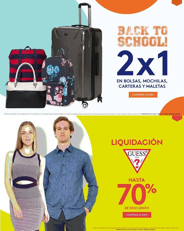 Promoda Outlet Online: 2 x 1 en bolsas, mochilas, carteras y