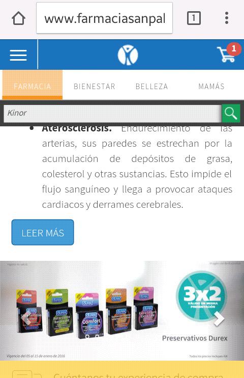 Farmacia San Pablo: 3x2 en condones Durex