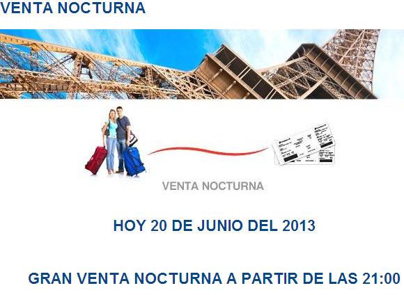 Venta nocturna en Aeroméxico junio 20 (activa)