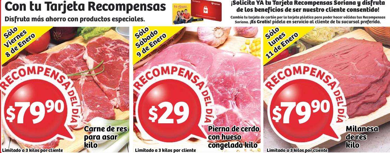 Soriana: carne para asar $80, pierna de cerdo $30 y milanesa de res $80 el kilo