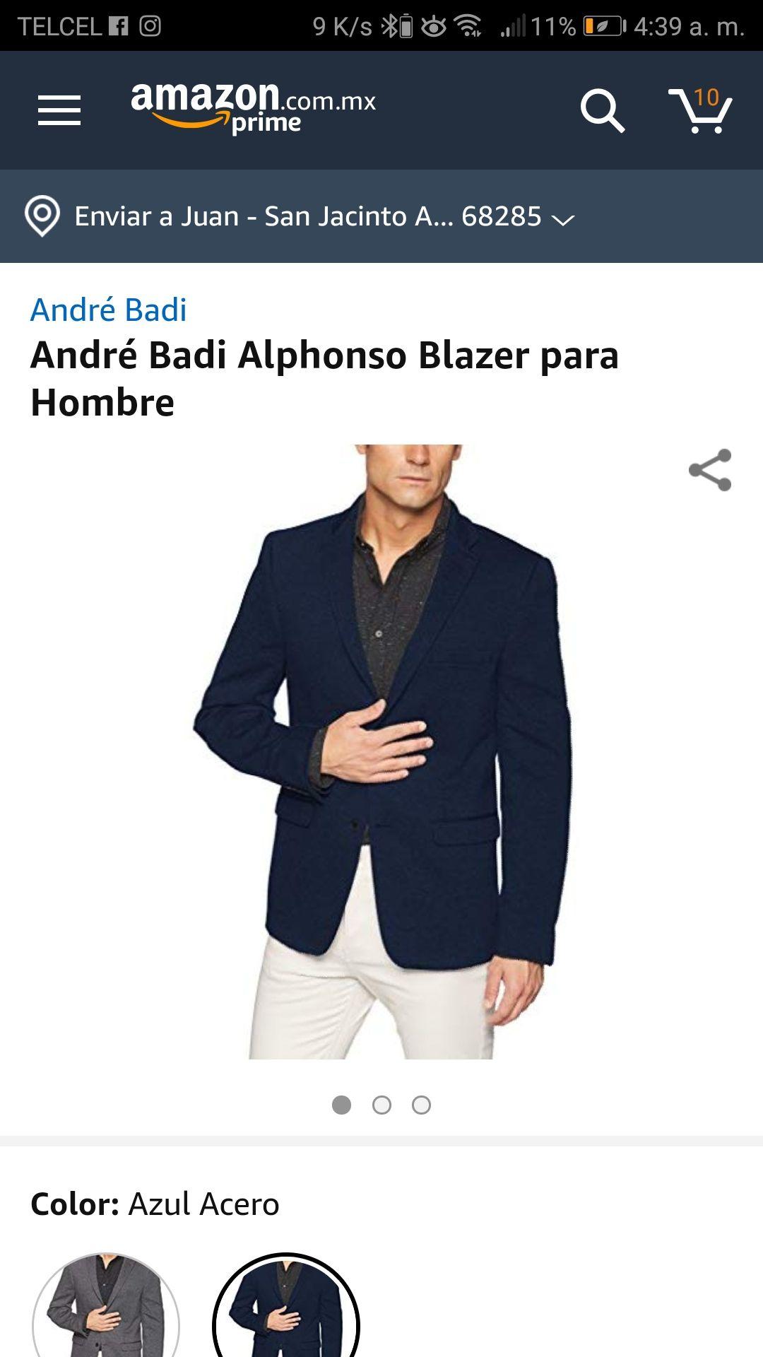 Amazon: André Badi Alphonso Blazer para Hombre