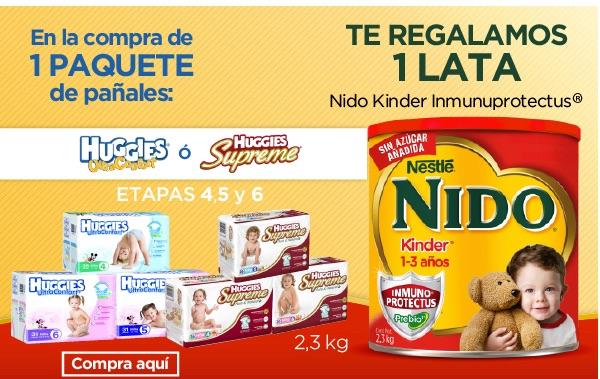 Bebe2go: LECHE NIDO 2.3KG GRATIS EN LA COMPRA DE UNOS PAÑALES