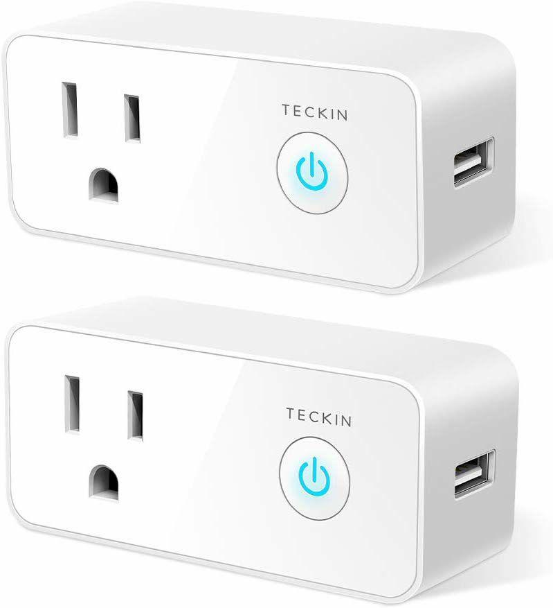 Amazon USA: 2 SmartPlug con USB compatible con Alexa/Google Home