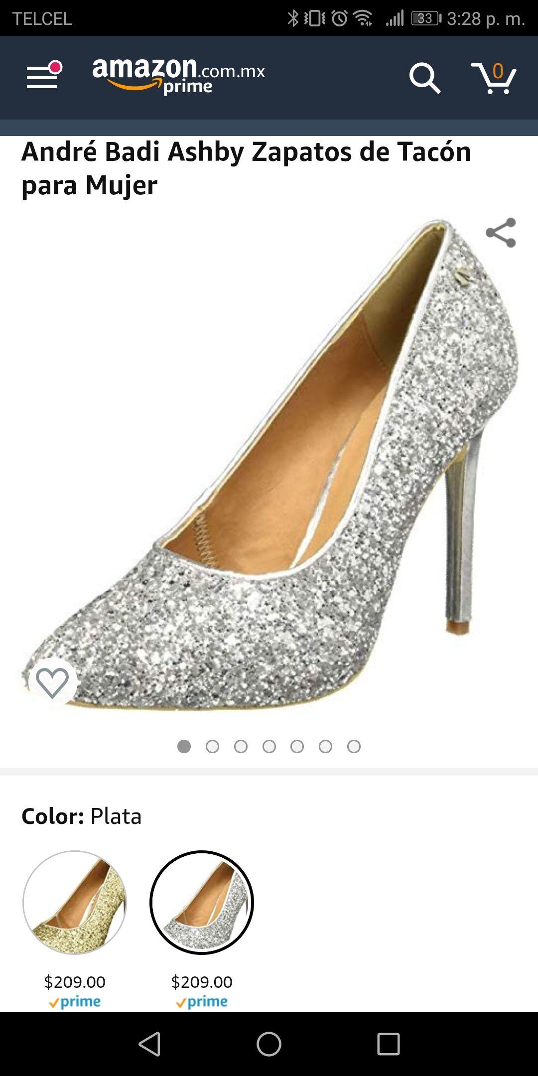 Amazon: André Badi Ashby Zapatos de Tacón para Mujer, Plata, talla 5