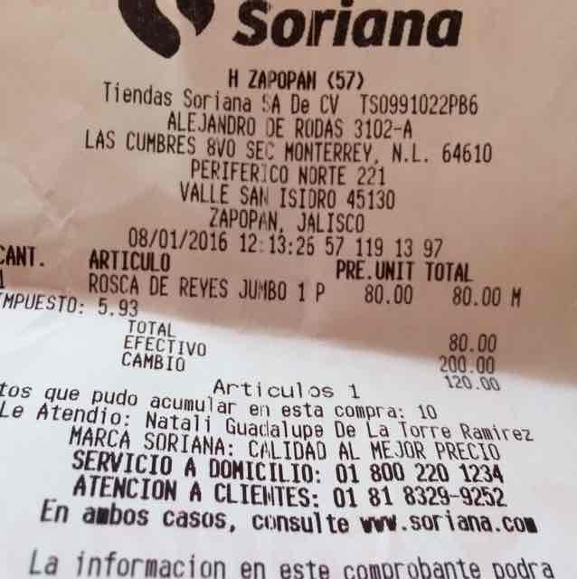 Soriana: 50% de descuento en Roscas de Reyes, ejemplo Jumbo 80.00