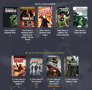 Humble Weekly Bundle Tom Clancy (5 juegos por 1 dólar)
