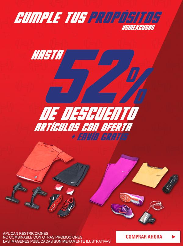 Dportenis: Hasta 52% de descuento en articulos con descuento + envio gratis