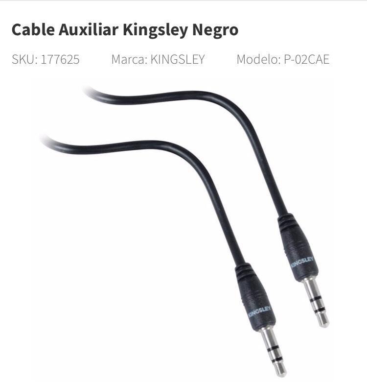 Elektra en línea: Cable Auxiliar baratísimo con envío gratis.