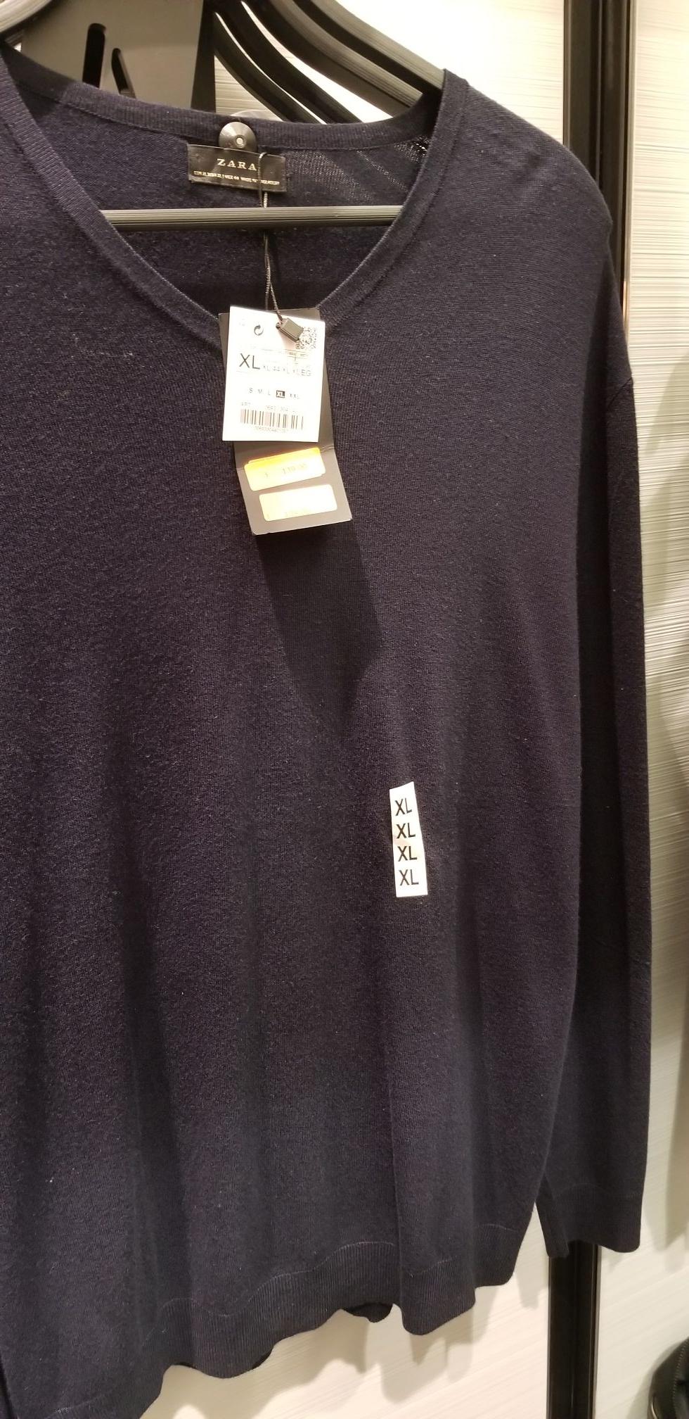 Suéteres Zara tallas XL y XXL