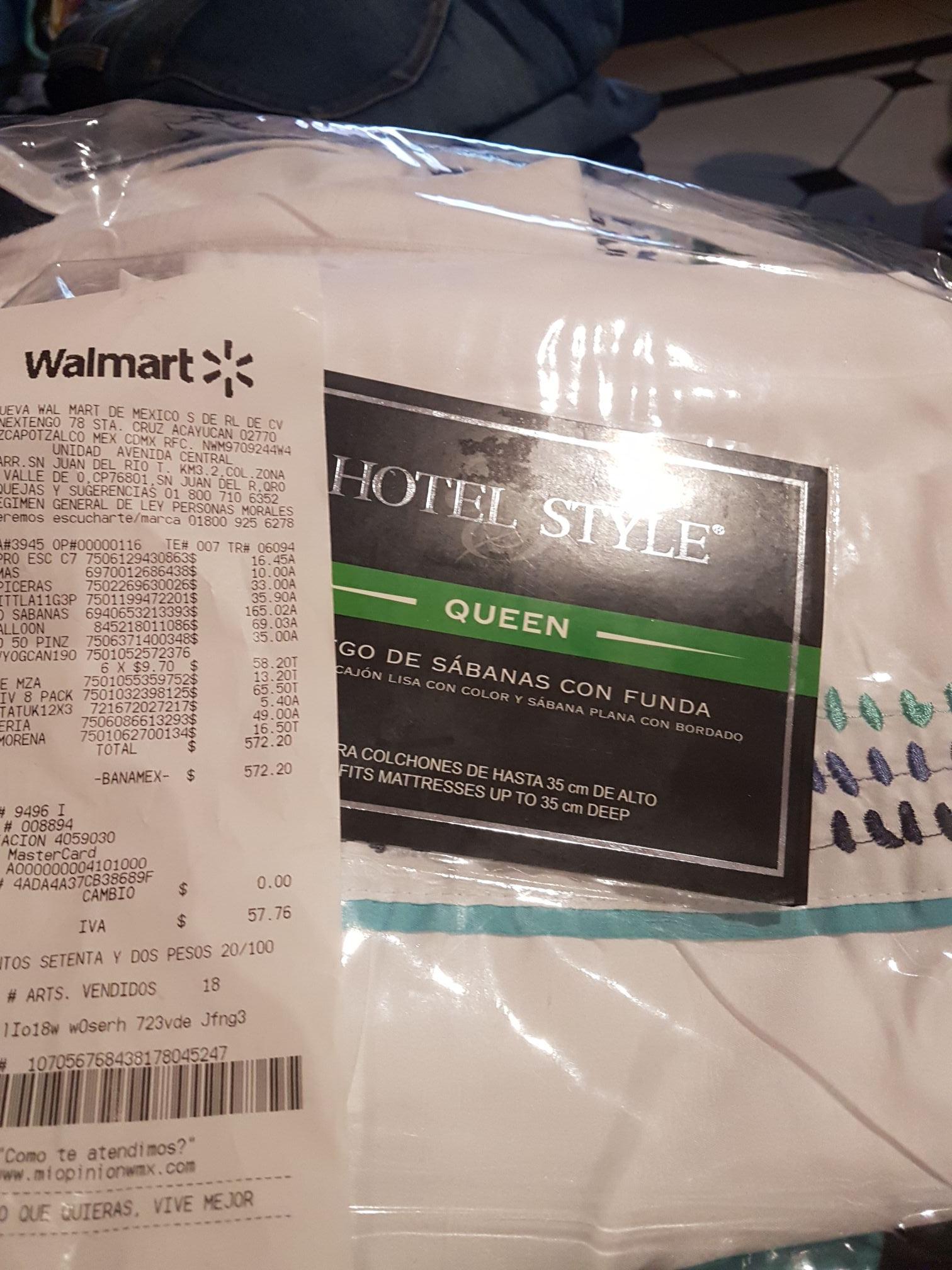 Walmart: Sábanas Queen