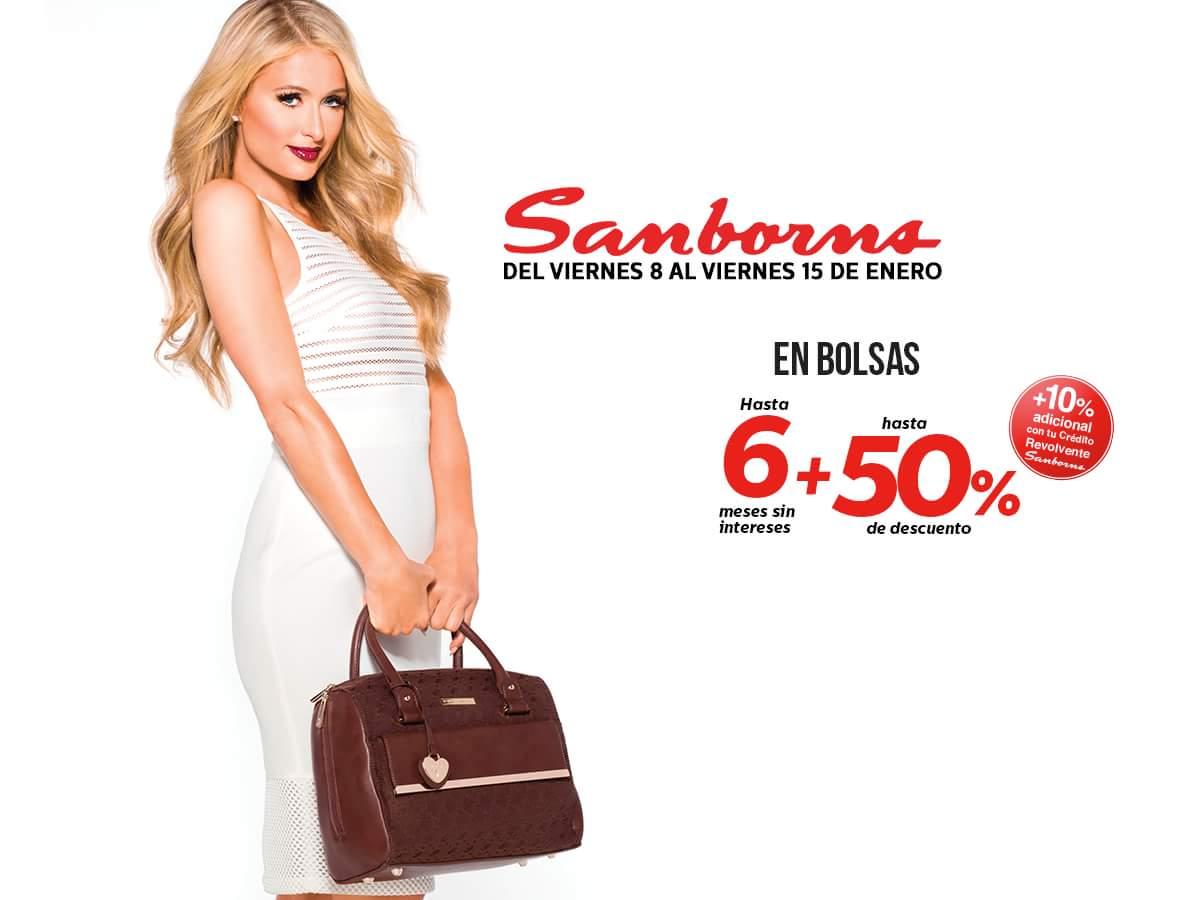 Sanborns: Hasta 50% + 10% adicional + 6 msi en bolsas