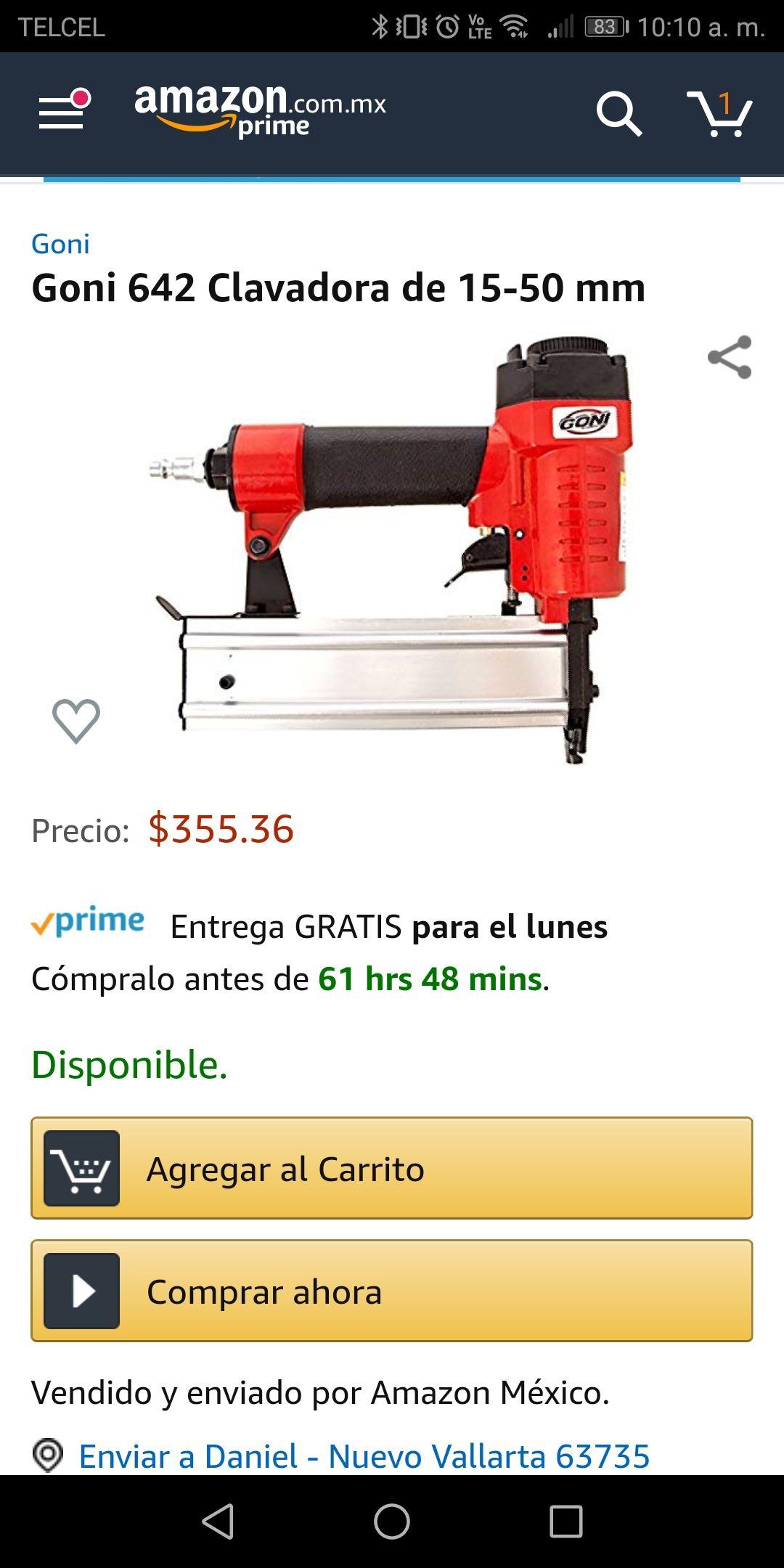 Amazon: Goni 642 Clavadora de 15-50 mm