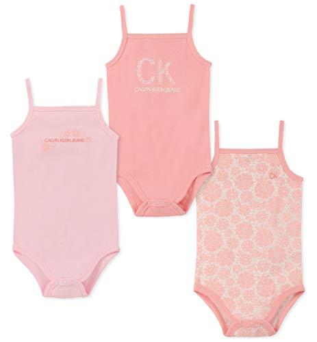 Amazon: Conjunto Calvin Klein de 3 Monos bebes 6-9 meses (Aplica Prime)