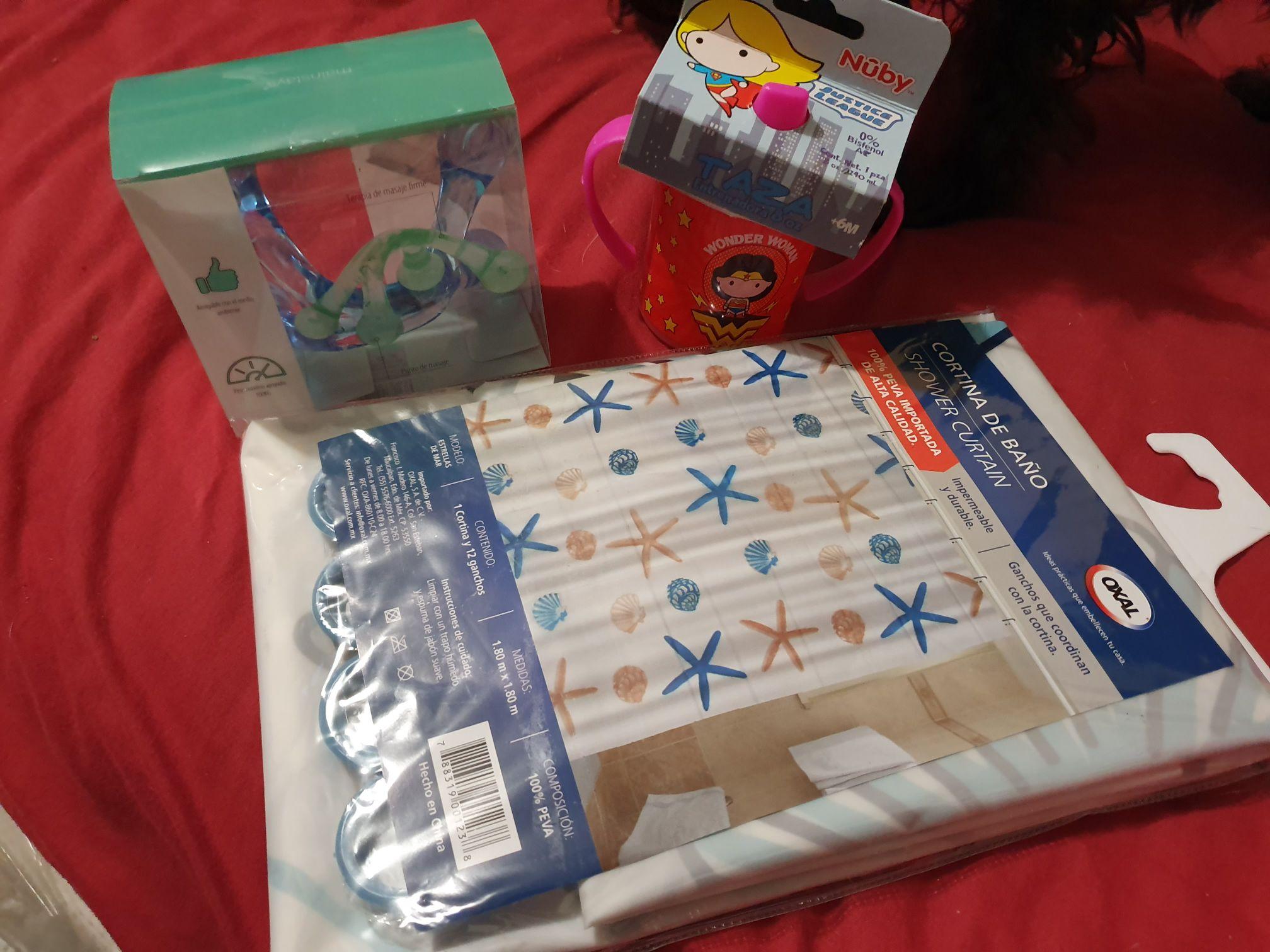 Walmart: tacita para bebé, cortina para baño y más