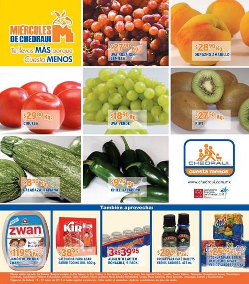 Miércoles de Chedraui junio 19: cebolla $6.70, papaya $10.90 y más