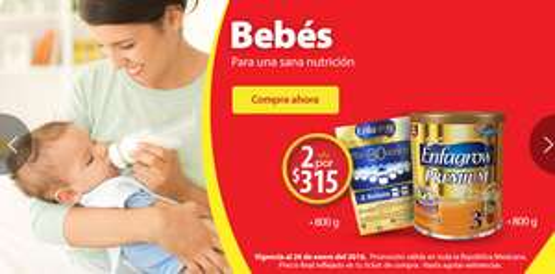 Walmart: Fórmula para lactantes 2x$315 Enfagrow premium etapa 3 de 800 g