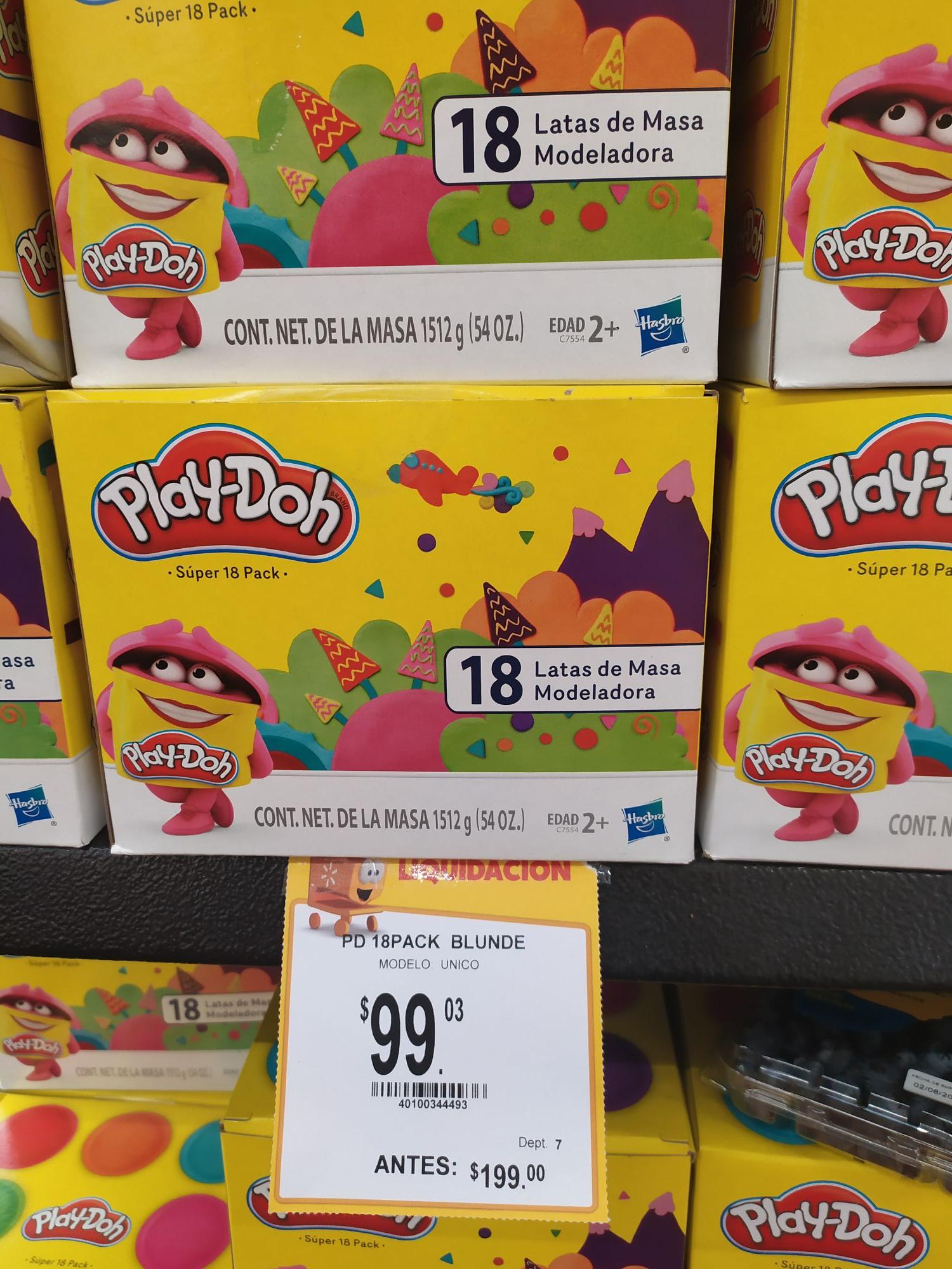 Walmart: Plastilina play Doh de 18 botes